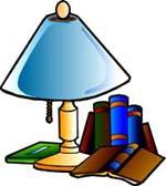 Lamp and books